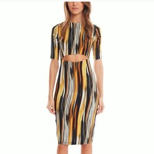 Suno Ikat Print Cut-Out Sheath Dress Revolve 2